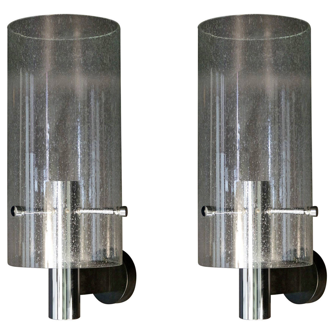 Large Pair of 1970s Sconces by Gaetano Sciolari