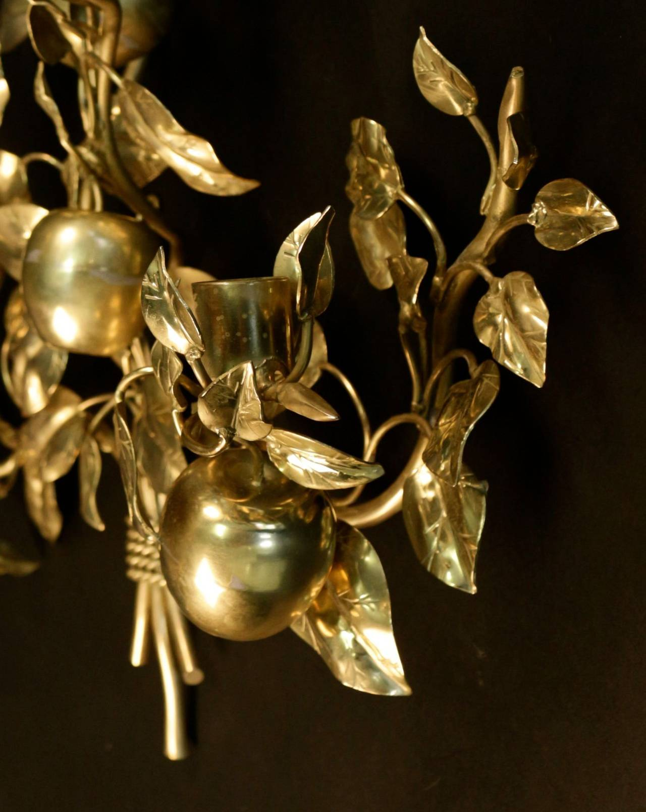 1960s Bronze Sconce 'The Eden Garden Tree' by Maison Honoré For ...