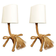 Pair of 1950s 'SmallHorse' Table Lamps by Adrien Audoux and Frida Minet