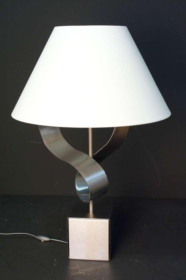 1970s Sculpture Table Lamp by François Monnet In Good Condition For Sale In Saint-Ouen, FR