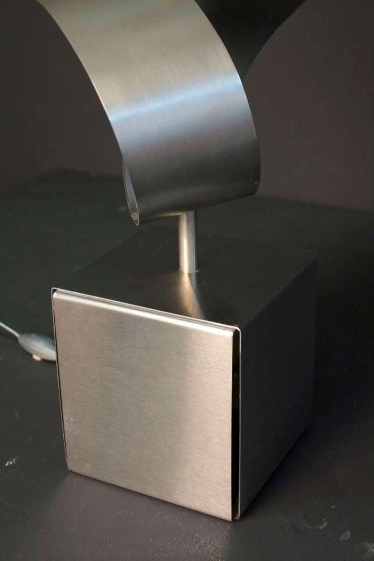 Late 20th Century 1970s Sculpture Table Lamp by François Monnet For Sale