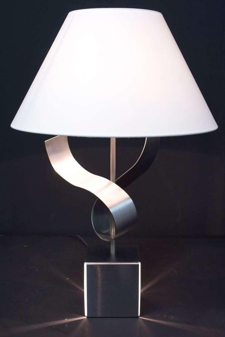 1970s Sculpture Table Lamp by François Monnet For Sale 2