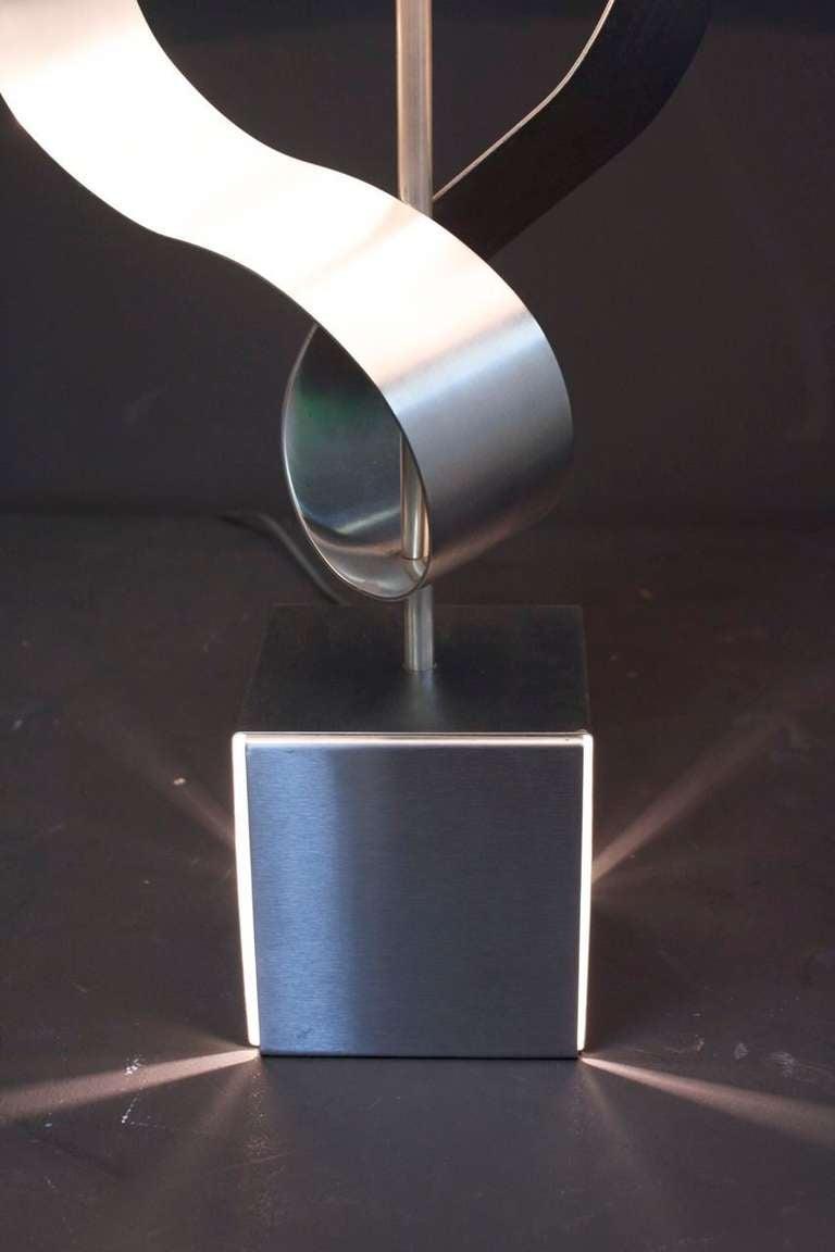 1970s Sculpture Table Lamp by François Monnet For Sale 3