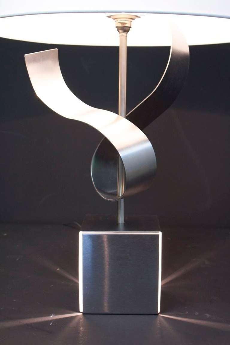1970s Sculpture Table Lamp by François Monnet For Sale 4
