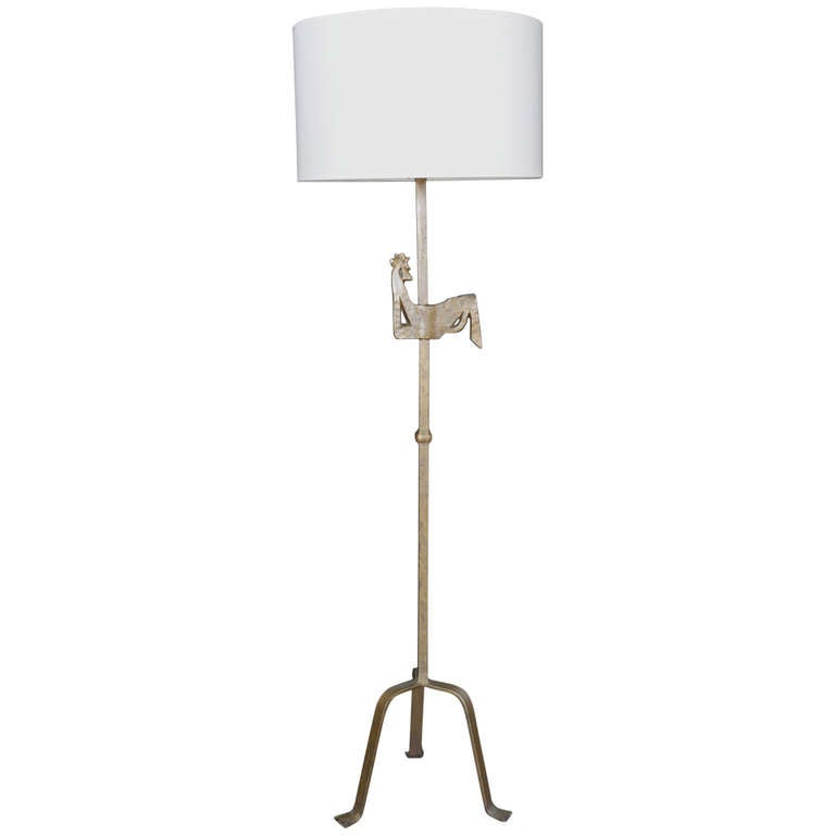 this 1940s gilded wrought iron sculpture floor lamp is no longer. Black Bedroom Furniture Sets. Home Design Ideas