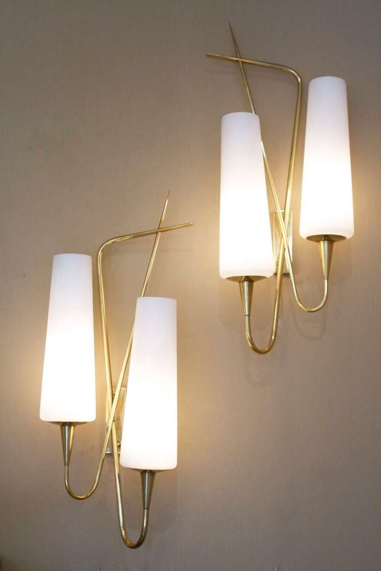 Pair of Asymmetrical Sconces by Arlus House 2