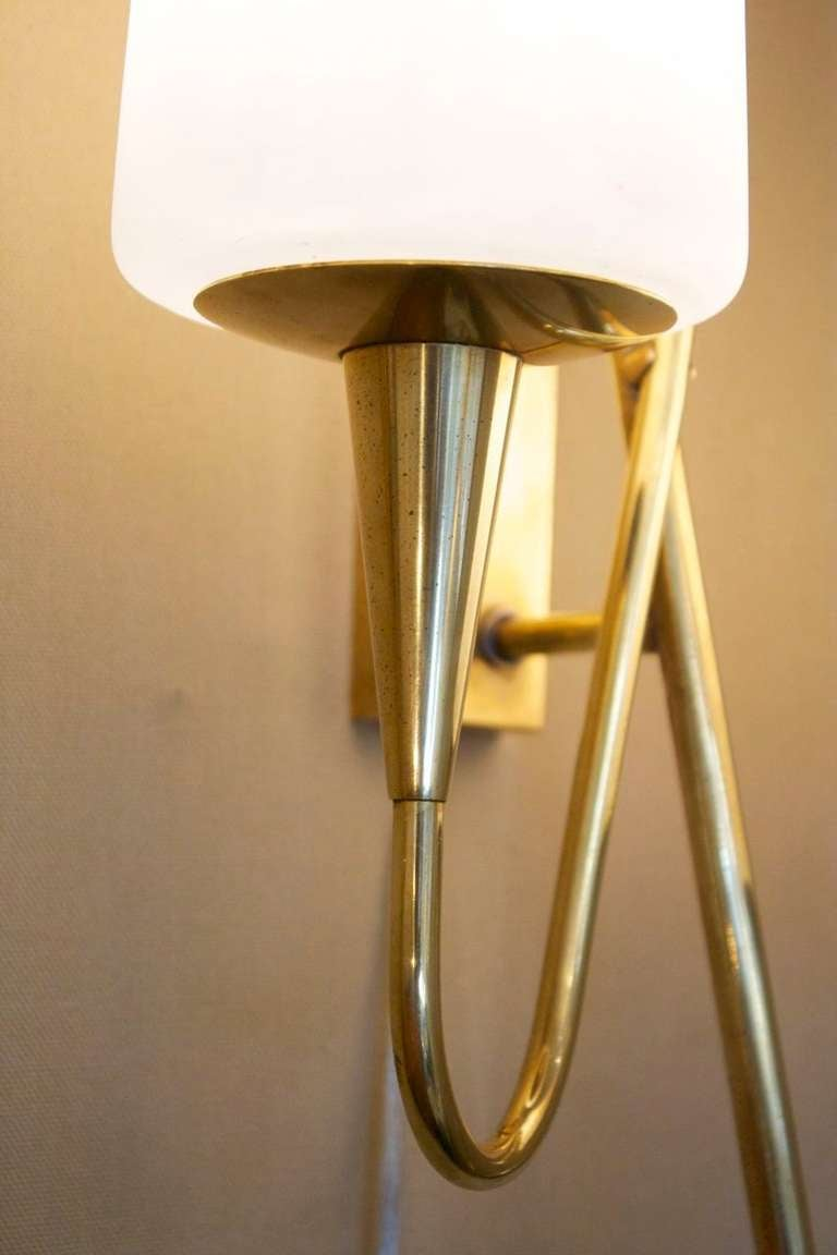 Pair of Asymmetrical Sconces by Arlus House 4