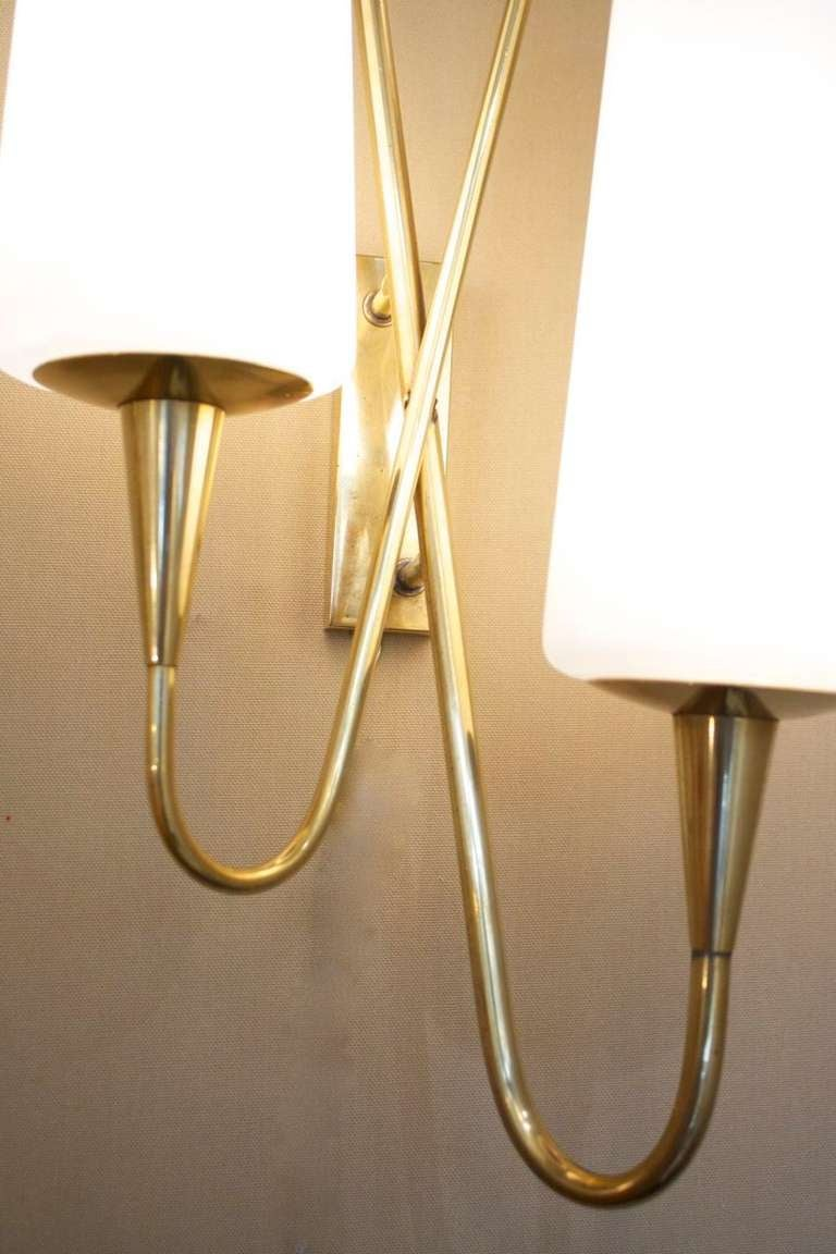 Pair of Asymmetrical Sconces by Arlus House 6