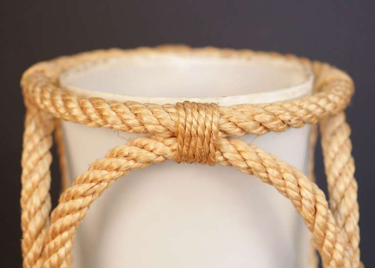 1950's Rope Lantern Table Lamp by Adrien Audoux and Frida Minet For Sale 1
