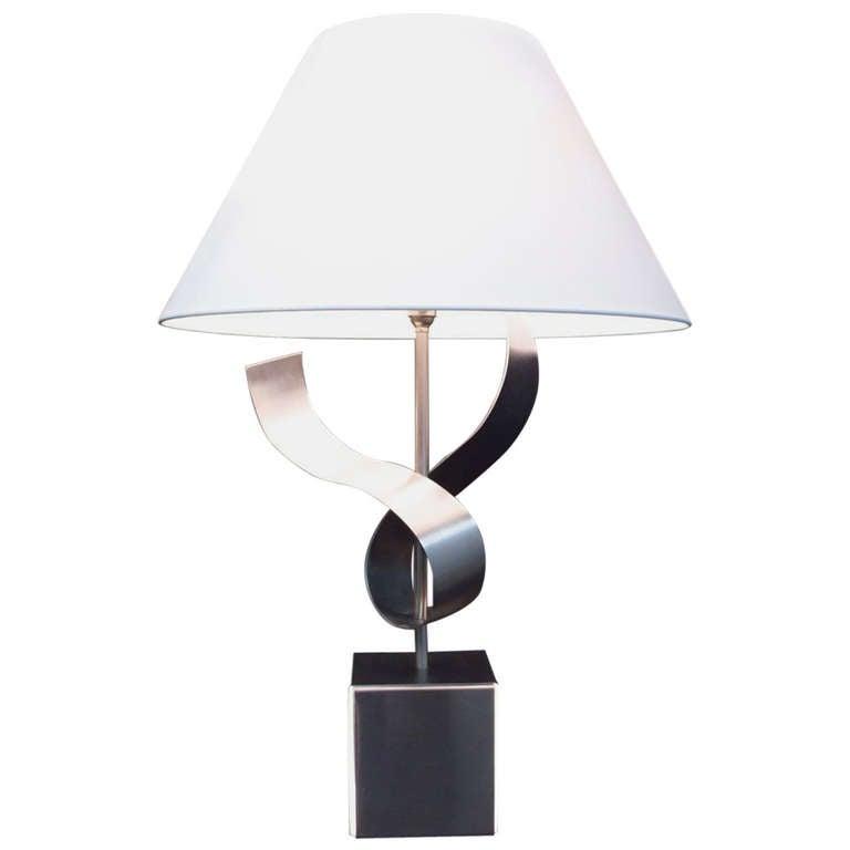 1970s Sculpture Table Lamp by François Monnet For Sale