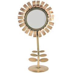1970s Hand-Held Mirror on Stand by Chaty Vallauris