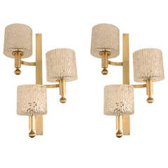1960s Pair of Sconces from a Parisian Brasserie Restaurant