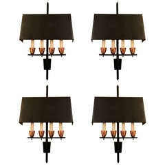 1965 Set of Four Sconces From The Paris Meurice Hotel