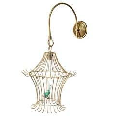 1950s 'Bird Cage' Lantern, a Tribute to R. Peynet