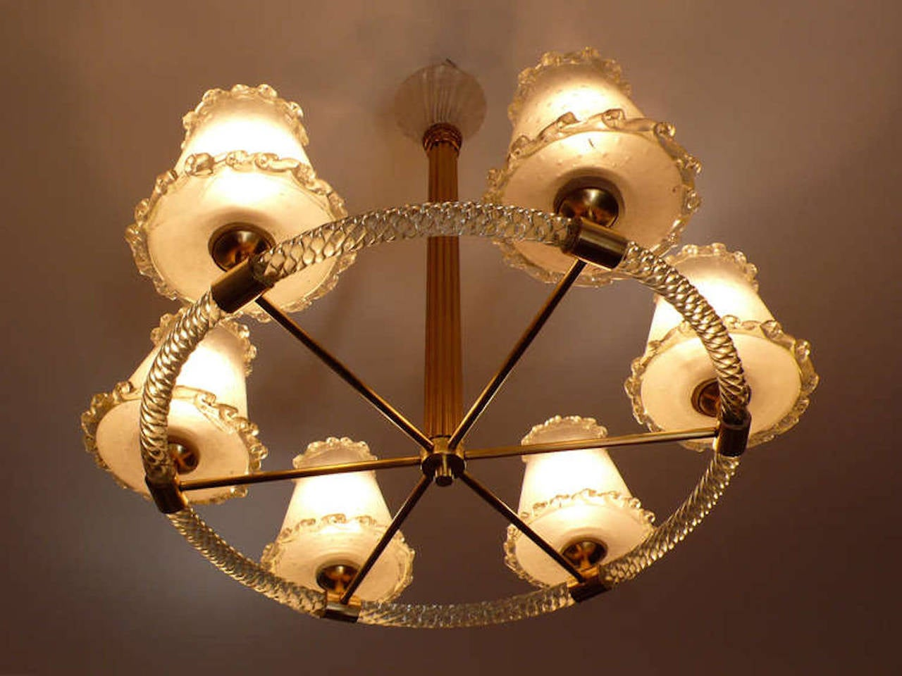 Murano chandelier by barovier e toso 1940 at 1stdibs for Barovier e toso
