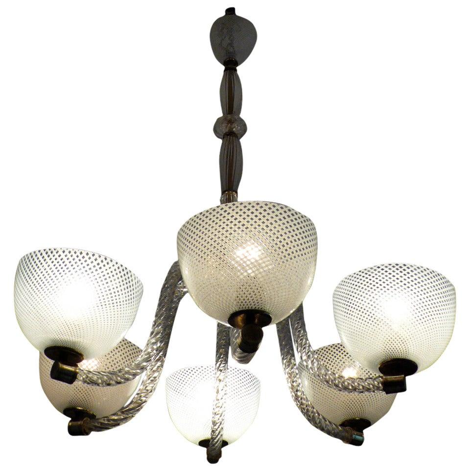 Vgt RETICELLO Vetro Ricambio Lampadario 40' Glass Lamp Shade ...