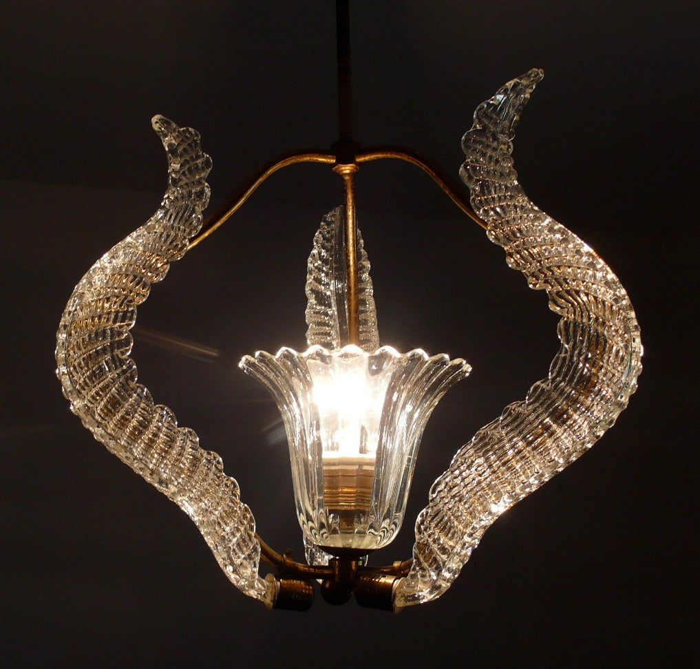 Refined Liberty Chandelier By Ercole Barovier 1940 At 1stdibs