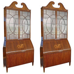 Pair of Trumeau Bookcases by the famous Italian Designer Paolo Buffa