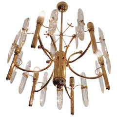 Sciolari Chandelier with Six Lights, 1970