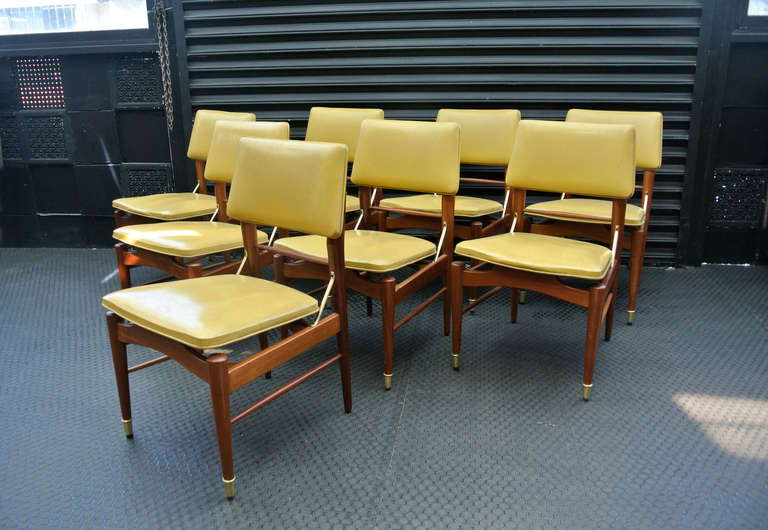 mexican set of 8 vintage leather chairs at 1stdibs