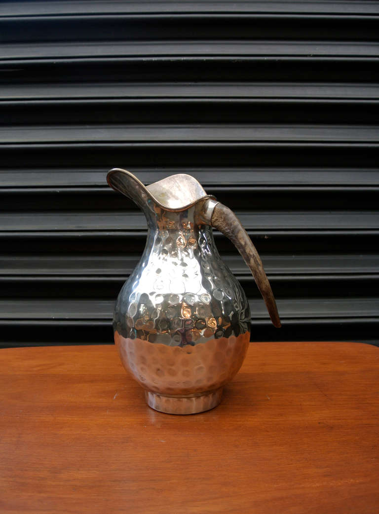 Los Castillo Horn Handle Silver Pitcher For Sale At 1stdibs
