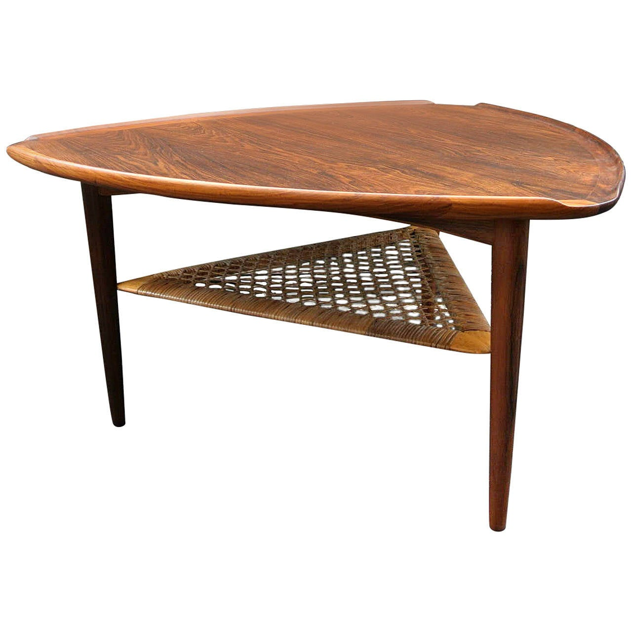 Poul Jensen Triangle Side Table at 1stdibs