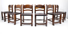 Set of Six Taxco Chairs in Tropical Wood, México, 1950