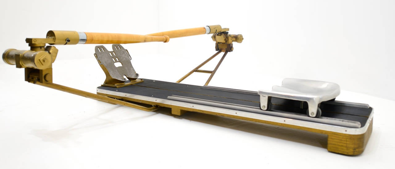 rowing machine with oars