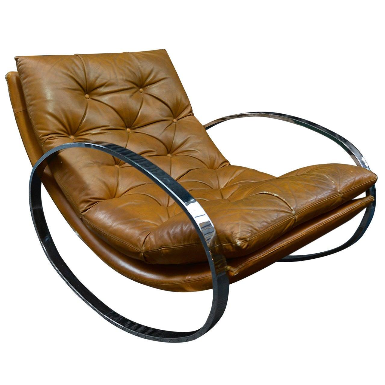 Milo baughman rocking chair at 1stdibs