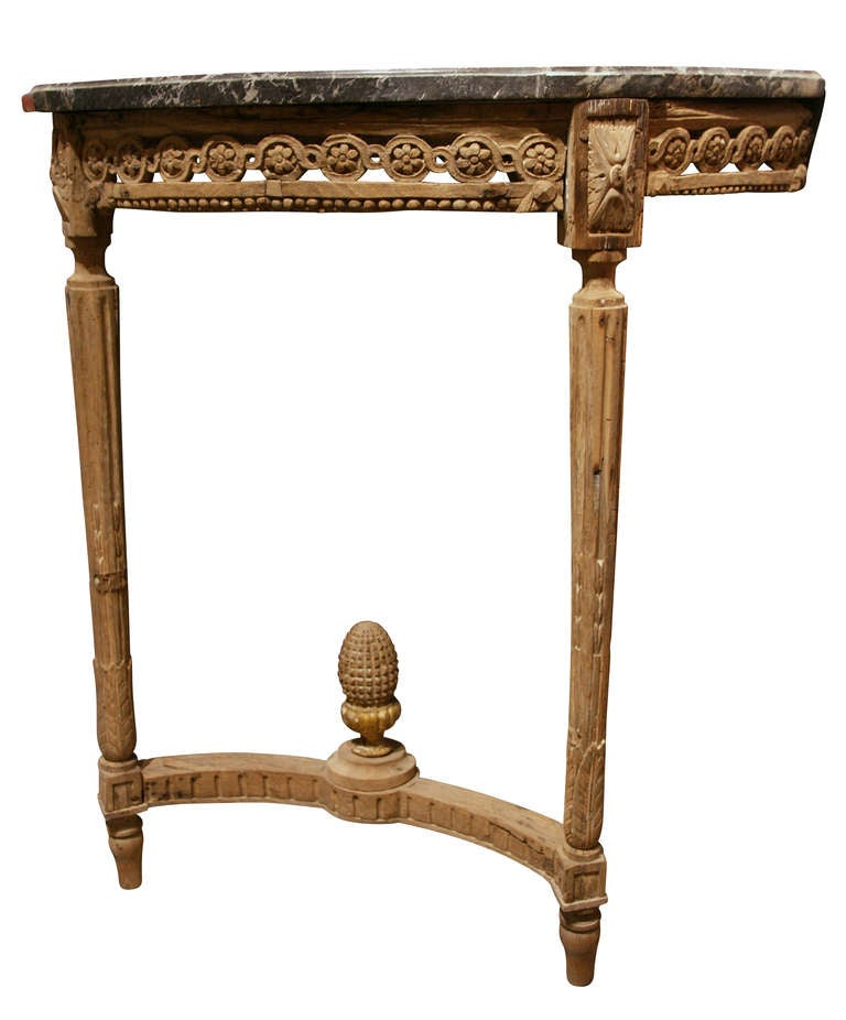 Console Louis Xvi French 18th Century With Raw Wood And