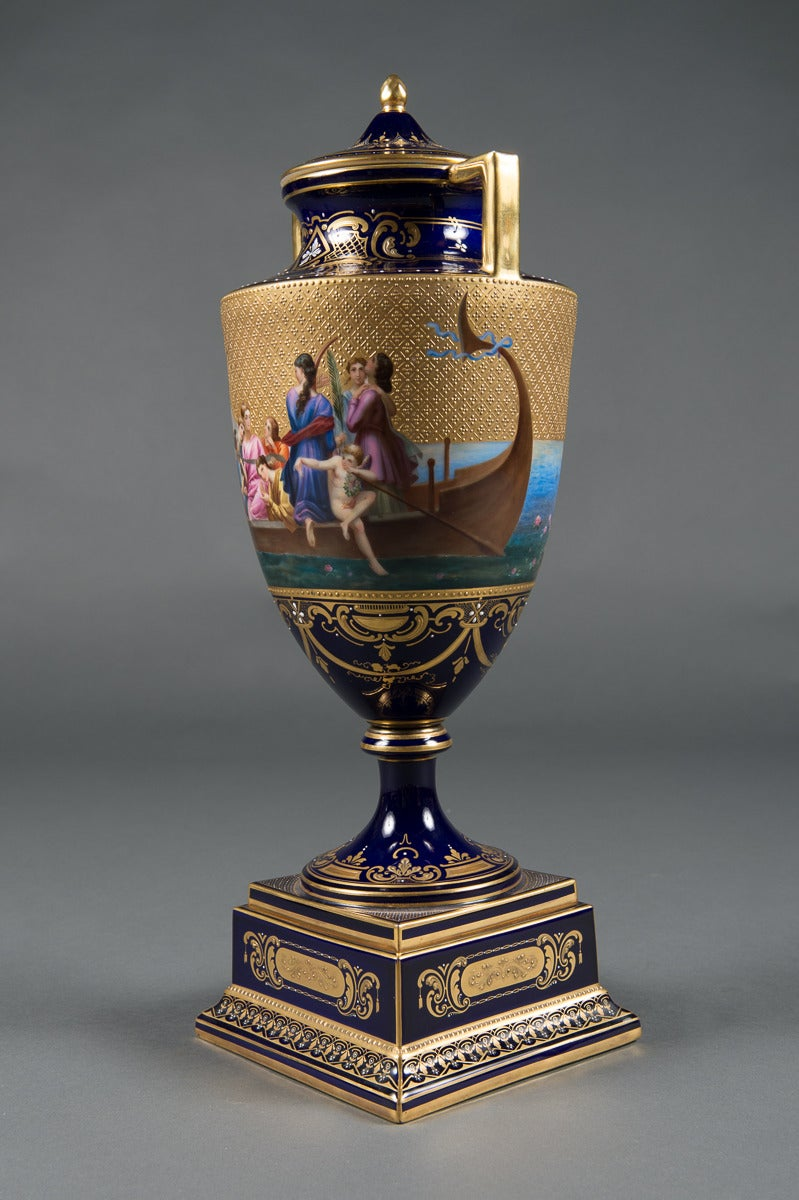 A Very Fine 19Th Century Austrian Royal Vienna Lidded Vase For Sale At 1Stdibs-8178