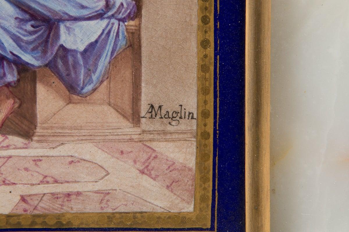 19th Century Antique Sevres Style plaque -