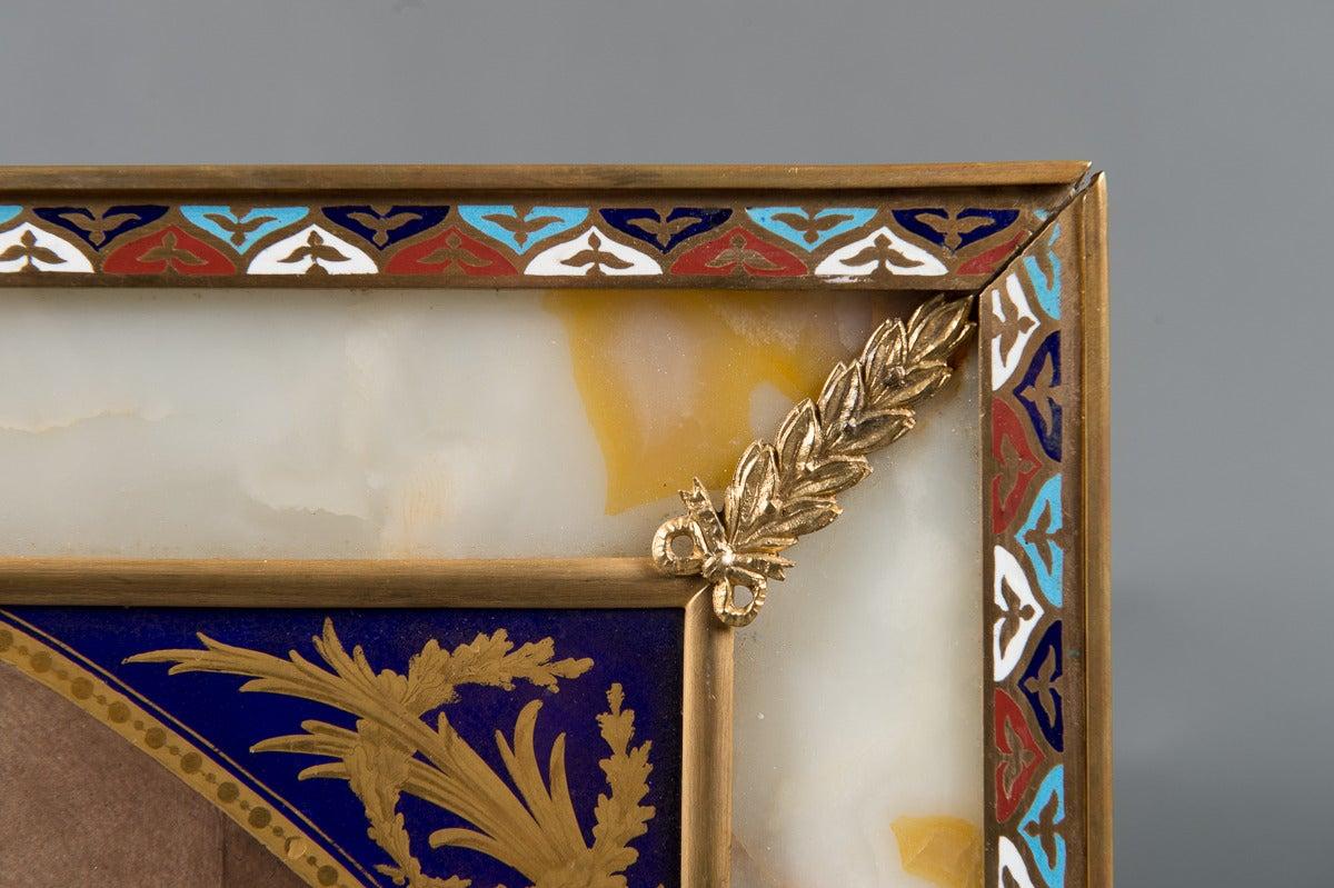 Porcelain Antique Sevres Style plaque -