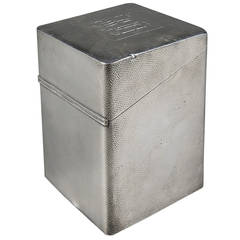 American Made Sterling Silver 950 Hammered Cigar Humidor Box