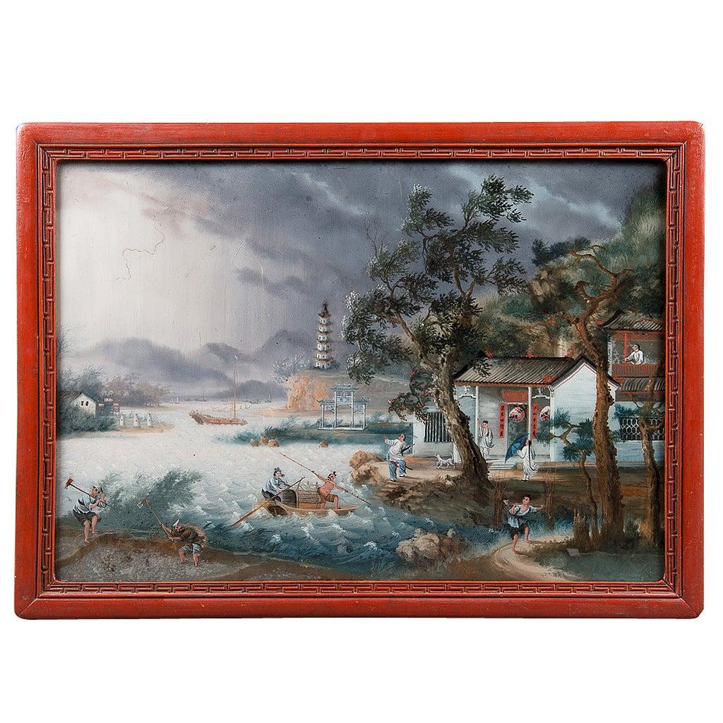 Reverse Glass Painting Th Century