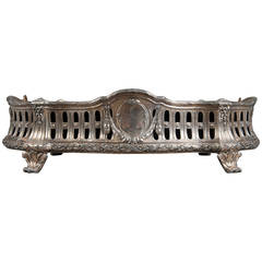 A French Antique Silvered Bronze Centerpiece