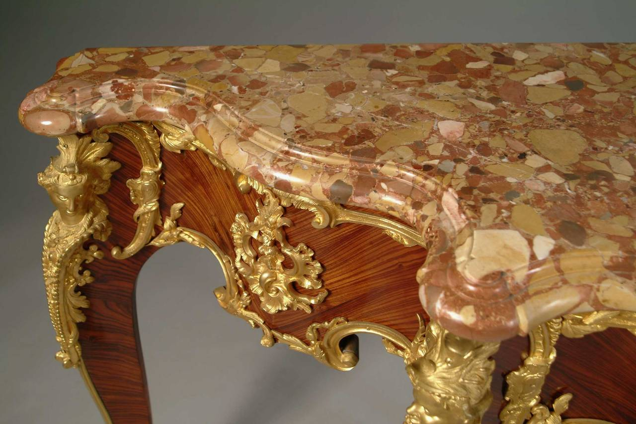 French louis xv style ormolu mounted king wood console table with french louis xv style ormolu mounted king wood console table with marble top 2 geotapseo Images