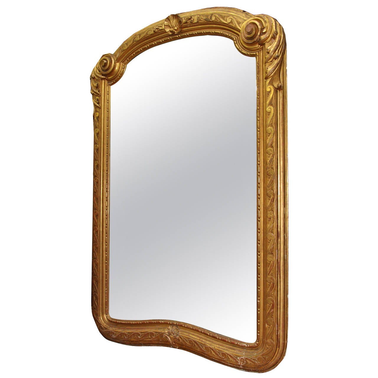 Large antique french carved giltwood mirror for sale at for Big mirrors for sale