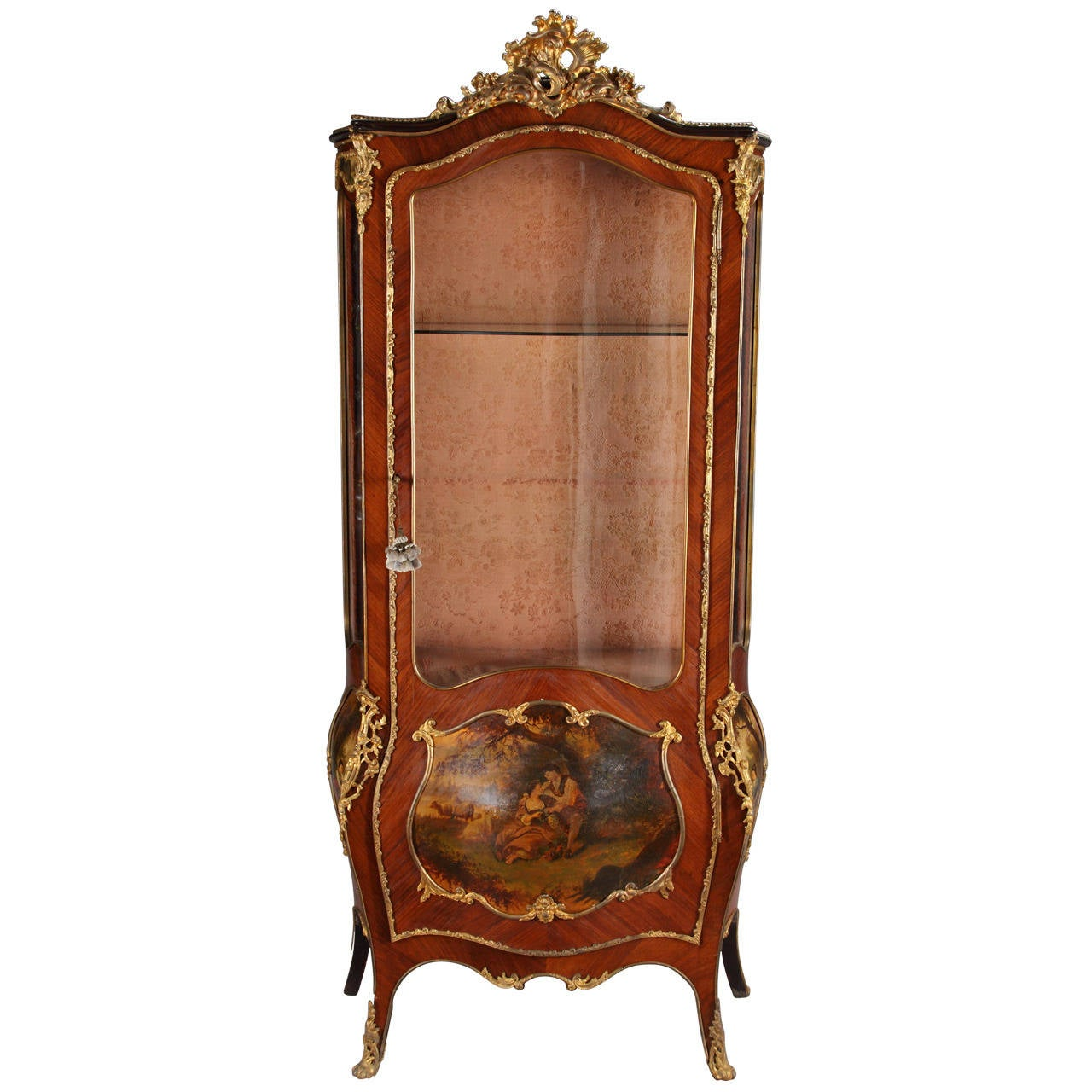 french louis xv style ormolu mounted vitrine at 1stdibs. Black Bedroom Furniture Sets. Home Design Ideas