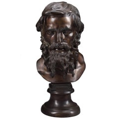 Bronze Bust of a philosopher after Vincenzo Gemito