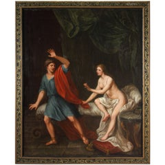 "18th century French Oil on Canvas  ""Joseph and Potiphar's wife"""