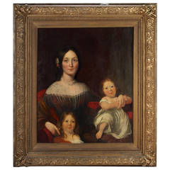 English Painting of Mother with Children