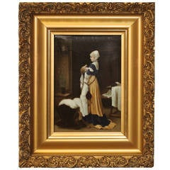 Mother and Child Painting in an Antique Gilt Frame