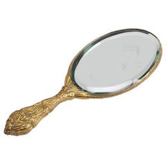 A Cloisonné Hand Mirror