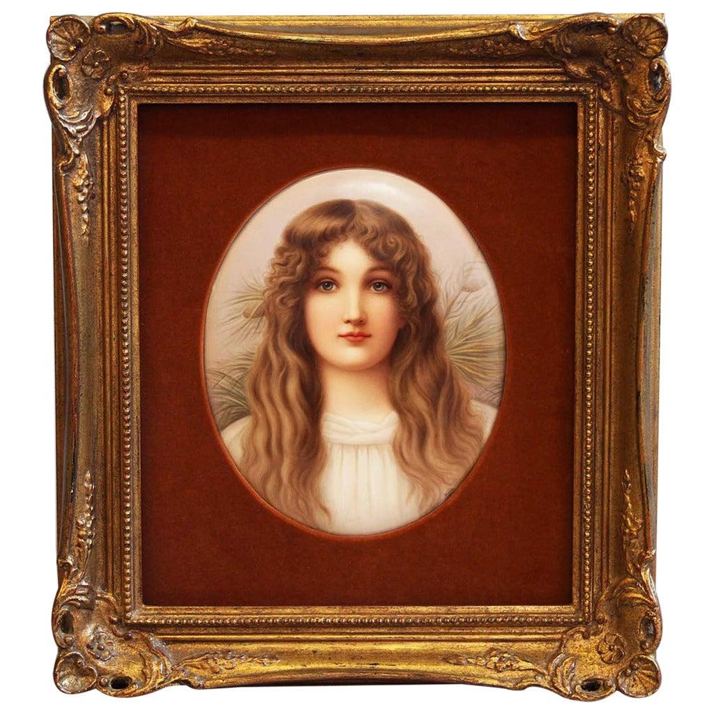 A Fine Berlin K.P.M Plaque of a Blonde Beauty