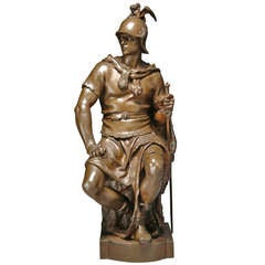 """A French Bronze Model of A Roman Soldier Entitled """"Le Courage Militaire"""""""