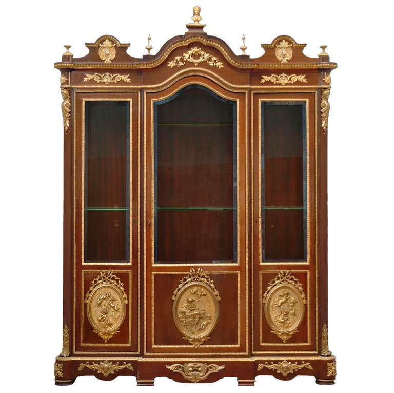 Large vitrine by: Charles-Guillaume Diehl and Leon Bertaux For Sale