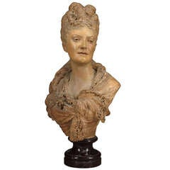 Terracotta Bust of a Lady by Albert Ernest Carrier-Belleuse