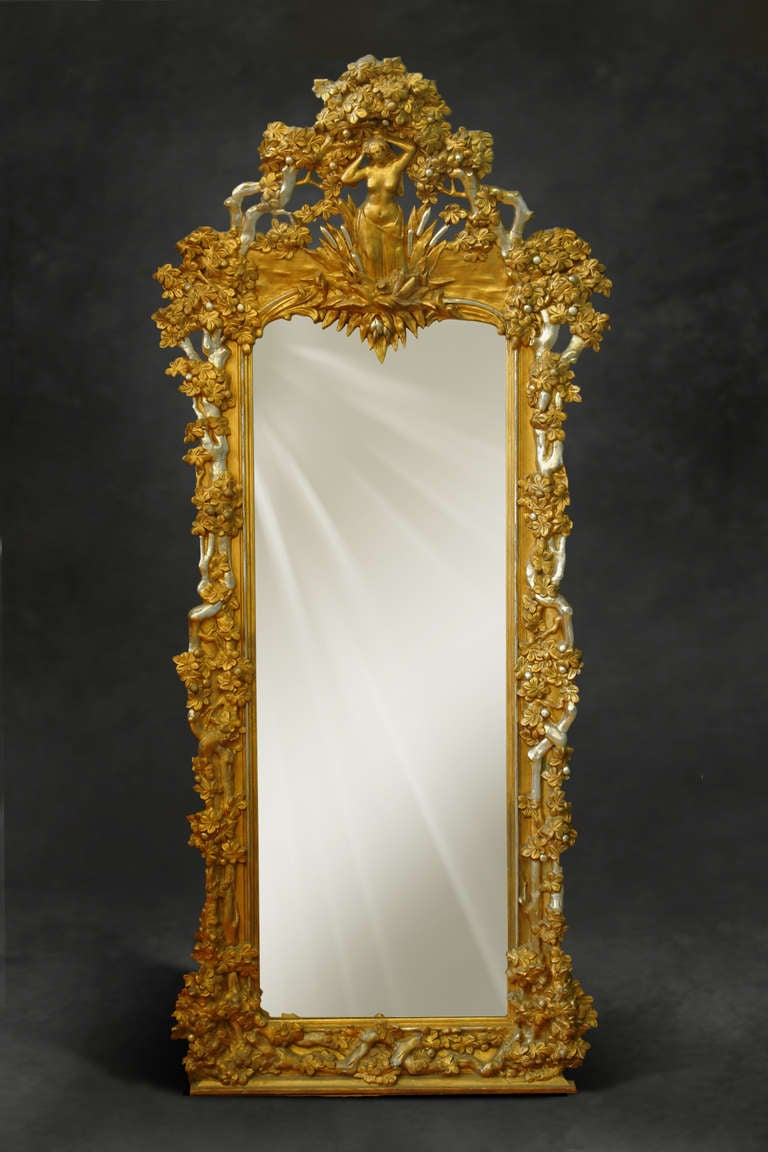 A French Napoleon Iii Gilt And Silvered Carved Wood And