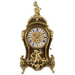 A French Antique Ormolu Bronze Mounted Boulle Mantel Clock, Circa 1870